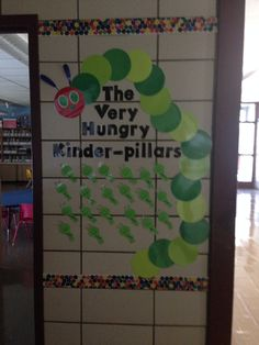 The Very Hungry Caterpillar bulletin board for kindergarten