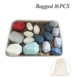 Nordic Style Stacking Rainbow Game - 16pcs bagged 2