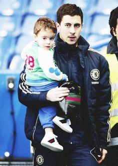 Eden Hazard and his son <3