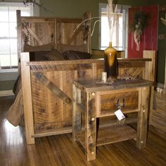 barnwood beds - Google Search