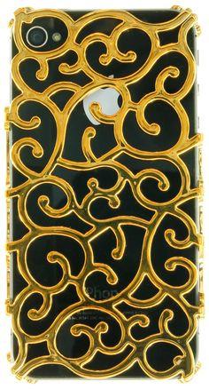 GOLD BAROQUE IPHONE CASE. - ACCESSORIES