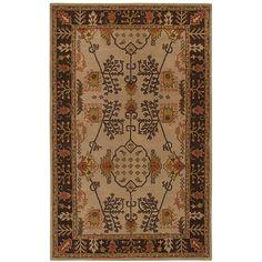 Hand-tufted Antique Beige Wool Rug (8' x 11')  $386  Overstock
