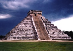 Chitzen Itza. The most famous pyramid in the Western hemisphere.