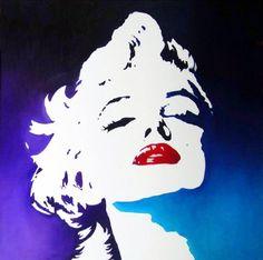 Arte Pop, Marilyn Pop Art, Marilyn Monroe Pop Art, Marilyn Monroe Painting, Pin Up Retro, Stencil Art, Pics Art, Oeuvre D'art, Les Oeuvres