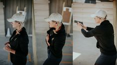 Anna Taylor drawing from concealment in her CC Tactical Leggings and then shooting target. Concealed Carry Women, Concealed Carry Holsters, Tactical Training, Shooting Targets, Carry On, Winter Hats, Anna, Leggings, Drawing