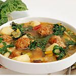 Sausage, Potato and Swiss Chard Soup | Canadian Living