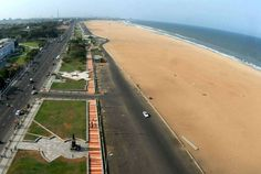 4 Day Trip to Chennai, Puducherry, Kanyakumari from Pune Travel Destinations In India, Domestic Destinations, India Travel, Tourist Places, Places To Travel, Places To Visit, Marina Beach, Kanyakumari, Aerial View