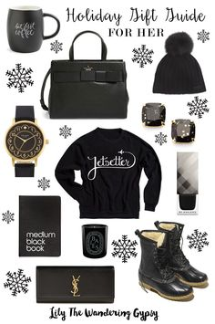 Holiday Gift Guide For Her - in All Black