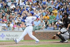 Anthony Rizzo hits a grand slam home run against the Pirates in the sixth inning. 9/16/12