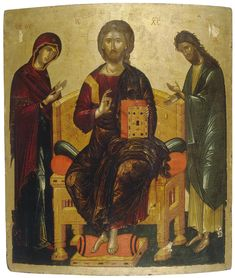 Angelos (attributed) Icon: Deisis Mediterranean, Middle of the century Roman History, Art History, Russian Icons, Hagia Sophia, Byzantine Icons, Albrecht Durer, Religious Icons, Orthodox Icons, Angel Art