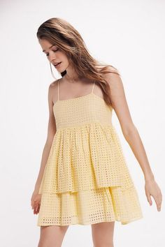 Shop UO Katrina Eyelet Tiered Ruffle Mini Dress at Urban Outfitters today. We carry all the latest styles, colors and brands for you to choose from right here. Boho Outfits, Spring Outfits, Dress Outfits, Cute Outfits, Fashion Outfits, Spring Clothes, Spring Shoes, Cute Dresses, Casual Dresses