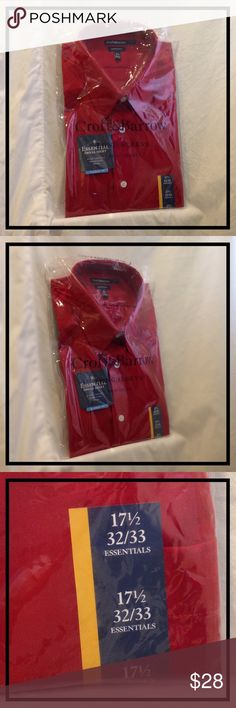 MENS DRESS SHIRT |LONG SLEEVED BUTTON UP DARK RED ⭐️ BRAND NEW, NWT ⭐️ CROFT & BARROW MENS DRESS SHIRT. Size: 17 1/2in. Neck, 32/33 Sleeve Length. Color: Chili Pepper Style: Classic Fit  This CROFT & BARROW ESSENTIALS Long-Sleeve dress shirt is a great color for the holidays!! Don't miss out on this great deal!!   GREAT GIFT  CROFT & BARROW Shirts Dress Shirts
