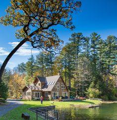 Stockbridge MA house rental on private lake