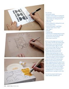 stenciling how-to via sweet paul