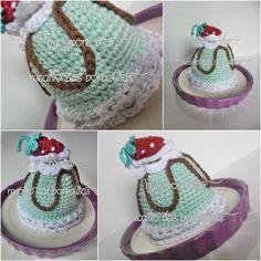 Que nossos mais doces sonhos se tornem realidade!!! <3 Mini Torta doce de Pistache Amigurumi  :p Vem saber mais aqui: http://recantodasborboletas-simoninha.blogspot.com.br/