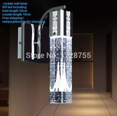 2015 Modern new LED crystal tower wall lamp led white/purple/red light color /bubble tower aisle lamp Violet Rouge, Crystal Wall, Led Lamp, Lamp Light, Wall Sconces, Light Colors, Door Handles, Wall Lights, Tower