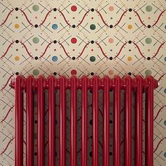 We love this classic column radiator powder coated in red. Thanks to @charlesjholland for the image. . Remember the column radiator is available in hundreds of colours. #radiator #classicradiator #columnradiator