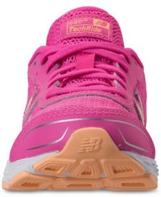 e8d18071aad8 New Balance Girls  680v5 Wide Width Running Sneakers from Finish Line - Pink  6.5 Running