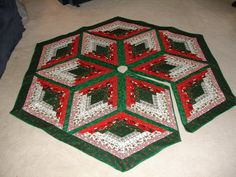 ~ Star Quilted Tree Skirt ~