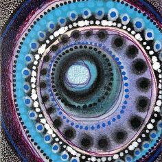 Mandala Meditation by Matt W Moore blue purple