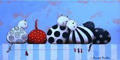 Cats hangout. Een schilderij van Susan Ruiter Schilderijen