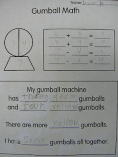 T's First Grade Class: Wayne Thiebaud Style Gumball Math 1st Grade Math, First Grade, Common Core Math Standards, Math Talk, Teaching Math, Teaching Ideas, Kindergarten Math, Teaching Tools, Singapore Math