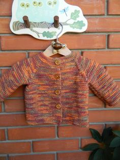 Knit Hand Made Cardigan / Sweater with Wooden by RodiAndSuzi Knit Baby Sweaters, Baby Knitting, Sweater Cardigan, Trending Outfits, Handmade Gifts, Etsy, Vintage, Fashion, Tejidos