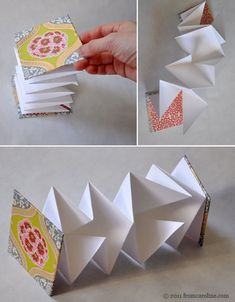 accordian-book-tutorial by fromcaroline, via Flickr  I've made larger ones like this for picture albums - they are called Squash Books