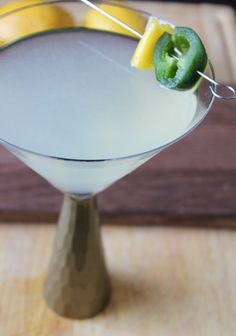 Jalapeno Lemon Martini