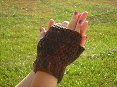 Debbie Wristlets in Earth  Hand Wrist Warmers by LilacsLovables, $12.00