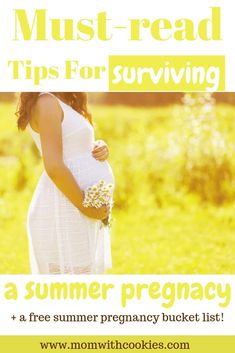 Simple tips to help survive a summer pregnancy! Pregnancy Help, All About Pregnancy, Pregnancy Advice, Pregnancy Humor, Pregnancy Workout, Tips For Pregnant Women, Earliest Pregnancy Symptoms, First Trimester, Free Summer