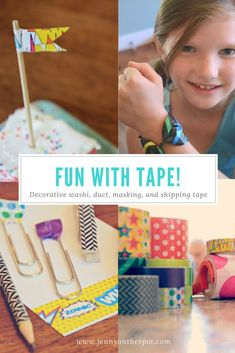 Fun washi tape ideas