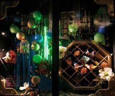 Harvey Nichols Xmas 2012  Glowing paper lanterns show off accessories
