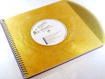 Weihnachtsgeschenk Gästebuch Schallplatte in Gold