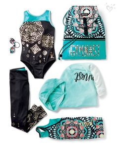 Metalic graphics and bright, global prints perfect for the gym and every adventure in between.