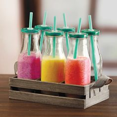 Found it at Wayfair Supply - Country 13 Piece Milk Bottles and Straw Set