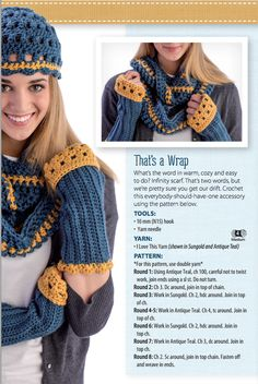 This year's must-have accessory is the infinity scarf! Crochet your own with this step-by-step guide.