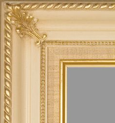 """Beautiful Picture Frame! Perfect For Artwork, Photographs, Canvas Paintings, Oil Paintings, Watercolor Paintings, Acrylic Paintings, Portraits, Wedding Pictures, Diplomas, Family Photographs & More. Classic Wooden Egg-Shell Off White Gold Tones Beaded 3.25"""" Wide Picture Frame."""