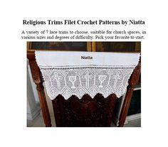 7 Religious Trims Filet Crochet Patterns