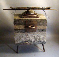 TETSU NO HAK0  Concrete Box with Iron by TheCeremonialHome on Etsy, $710.00