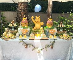"""576 Likes, 8 Comments - Rachel Nvard Jingozian  (@racheljspecialevents) on Instagram: """"A Classic Winnie the Pooh inspired Baby Shower 