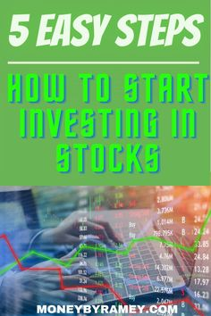 Check out some steps I would recommend to get started in the world of investing. Click the photo to learn more How to Start Investing in Stocks. #ideas #finance #investing #stocks #financialplanning #financialfreedom #money #moneymanagement #moneyideas #tips #howto #stocks #dividend