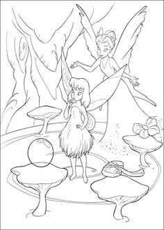 Tinkerbell Character Colour In Pages