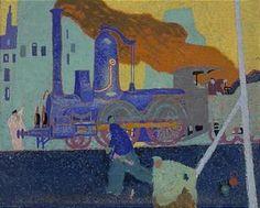 Lyonel Feininger, SMALL BLUE LOCOMOTIVE