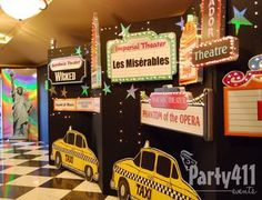 new york theme decor | Walking into the ballroom guests passed taxis and 3D signs from famous ...