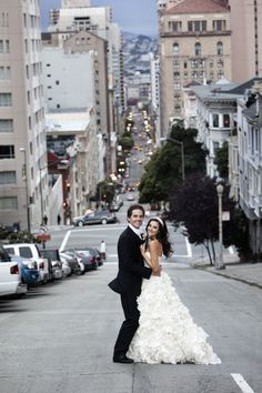 MUST HAVE, a shot of the couple on bottom of the hill and view of the city. If I get married in San Francisco