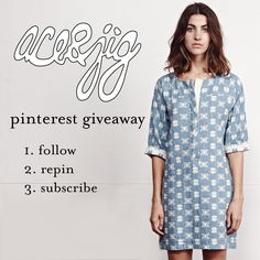 // Our Spring '15 Collection is arriving in stores, and we couldn't be happier! In celebration, we are giving away one of our favorite Spring pieces, our Denim Mosaic Ecolier Dress. In order to enter: 1. Follow ace&jig on Pinterest 2. Repin your two favorite looks from our ACE & JIG SPRING15 COLLECTION board. 3. Visit aceandjig.com and sign up for our mailing list. A winner will be chosen Friday, February 27th! Open to entrants globally. //