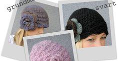 Nu tänkte jag dela med mig av lite mössmönster. Alla tre modeller utgår från det väldigt enkla grundmönstret. Blomman är virkad utifrån de... Knit Crochet, Crochet Hats, Knitted Hats, Winter Hats, Beanie, Knitting, How To Wear, Crocheting, Fashion