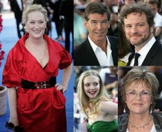 Julie Walters with cast members of  Mamma Mia