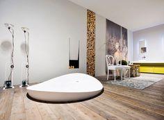 Bathroom Fireplace Ideas, Designs by Antonio Lup
